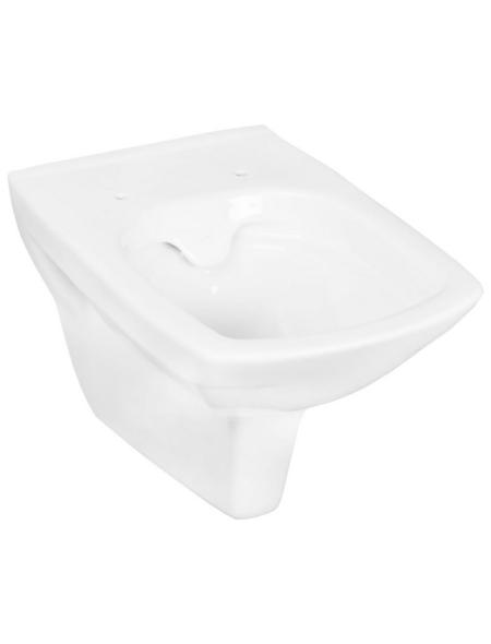 CORNAT Wand WC »RIMINI«, Tiefspüler, weiß, spülrandlos
