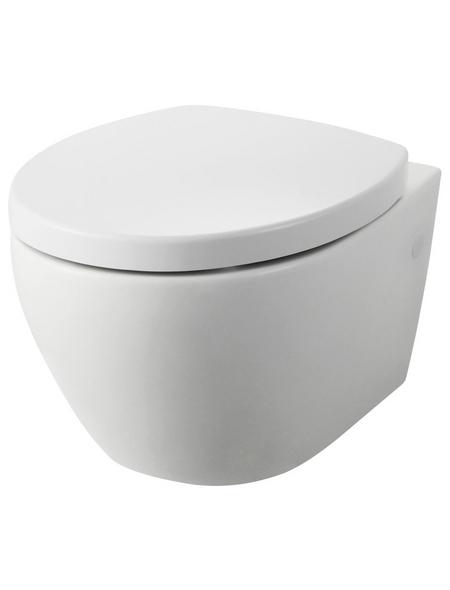 WELLWATER Wand-WC-Set (Wand-WC spülrandlos, WC-Sitz, Befestigungssatz)