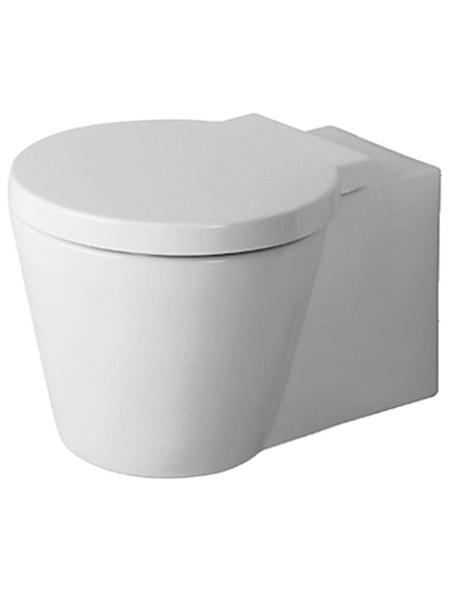 DURAVIT Wand WC »Starck 1«, Tiefspüler, weiß, mit Spülrand