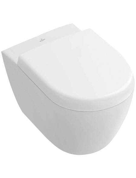 VILLEROY & BOCH Wand WC »Subway 2.0«, Tiefspüler, alpinweiß, mit Spülrand
