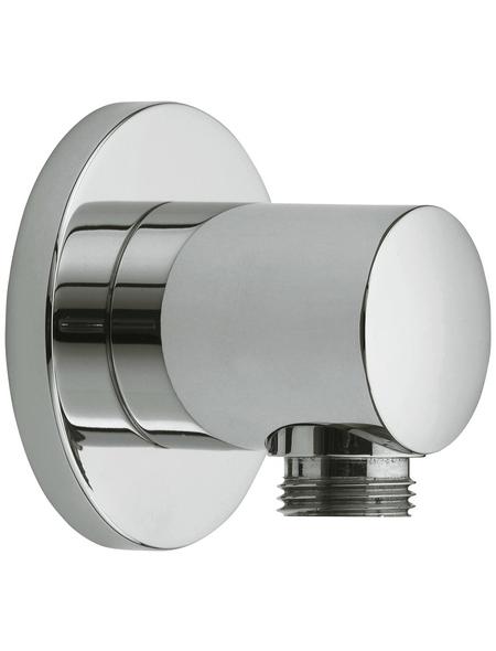 "KEUCO Wandbrausehalter »Plan«, Kunststoff/Metall, silberfarben, DN 15 (1/2"")"