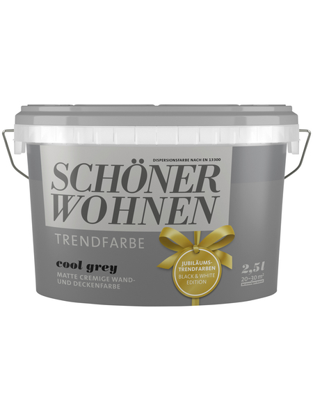 SCHÖNER WOHNEN Wandfarbe »Trendfarbe, cool grey«, matt