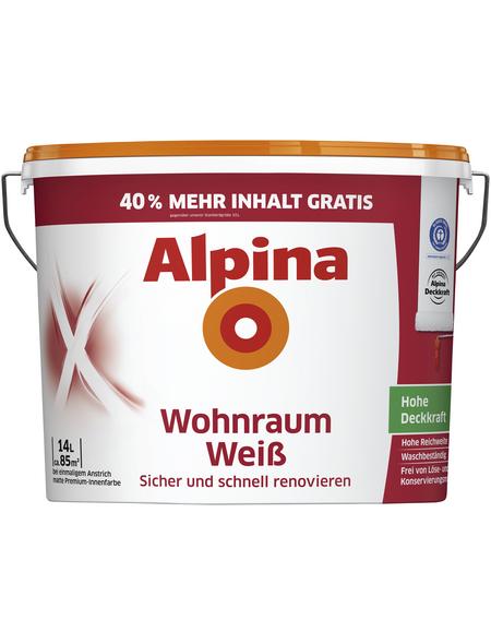ALPINA Wandfarbe, weiß, matt