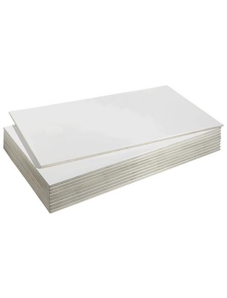 Wandfliese »Basic«, weiß, glänzend, Presskante
