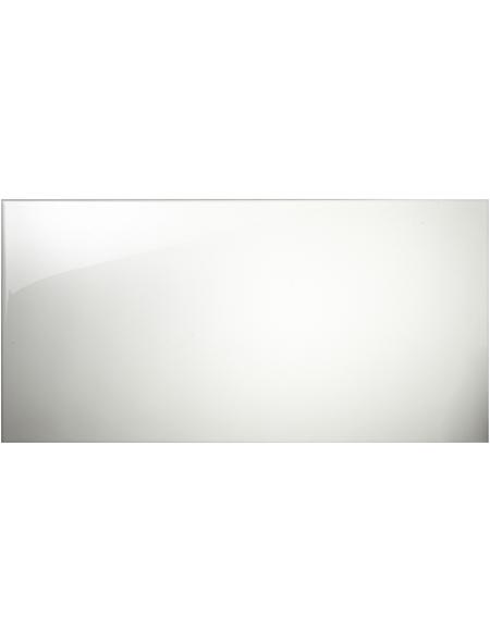 Wandfliese, Feinsteinzeug, weiß, glänzend