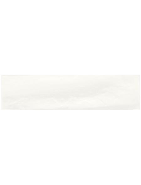 Wandfliese »Malon«, Stein, weiß, glänzend