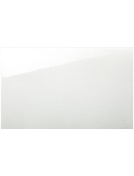Wandfliese, Stein, weiß, glänzend