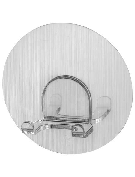 WENKO Wandhaken, Static-Loc, LxBxH: 80 x 80 x 32 mm, Kunststoff (PET)