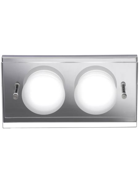 wofi® Wandleuchte chromfarben 5,5 W, 2-flammig, inkl. Leuchtmittel in warmweiß
