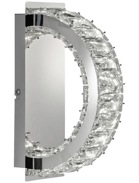 wofi® Wandleuchte chromfarben 6 W, 1-flammig, inkl. Leuchtmittel in warmweiß