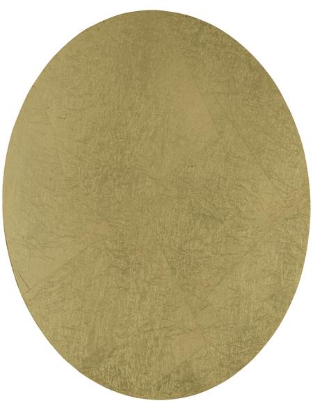 wofi® Wandleuchte goldfarben 12 W, 1-flammig, inkl. Leuchtmittel in warmweiß
