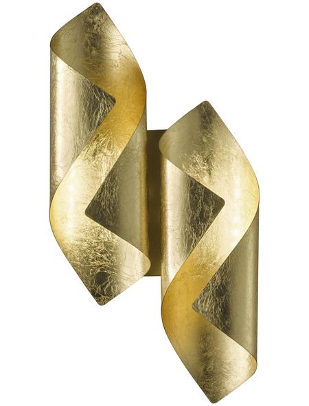 wofi® Wandleuchte goldfarben 3 W, 2-flammig, inkl. Leuchtmittel in warmweiß