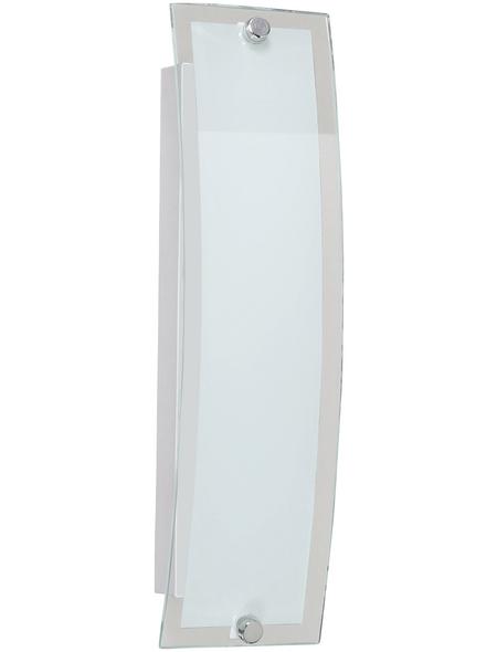wofi® Wandleuchte nickelfarben 10 W, 1-flammig, inkl. Leuchtmittel in warmweiß