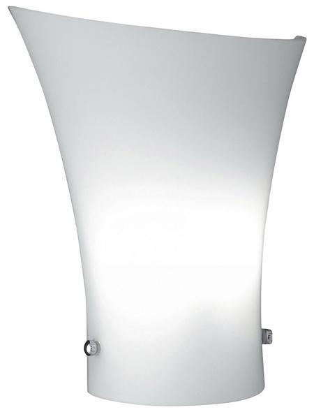 Wandleuchte weiß 33 W, 1-flammig, G9, ohne Leuchtmittel