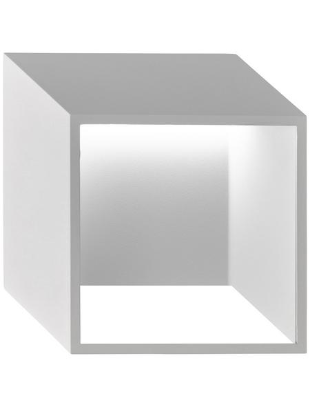 wofi® Wandleuchte weiß 5,5 W, 1-flammig, inkl. Leuchtmittel in warmweiß