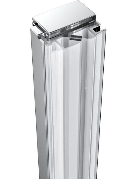 WELLWATER Wandprofil-Dichtung »Smart«, silberfarben, Aluminium/PVC