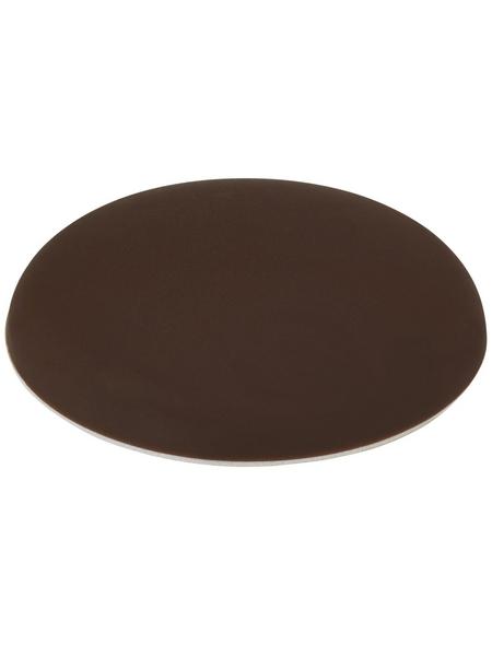 HETTICH Wandpuffer, selbstklebend, Kunststoff, braun, Ø 60 x 13 mm