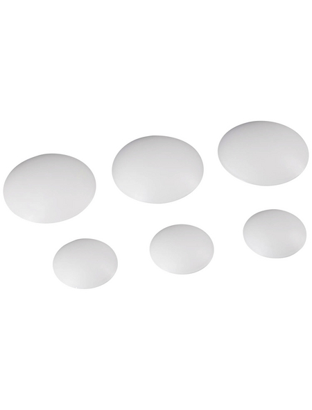 HETTICH Wandpuffer-Set, selbstklebend, Kunststoff, weiß, 6-tlg.