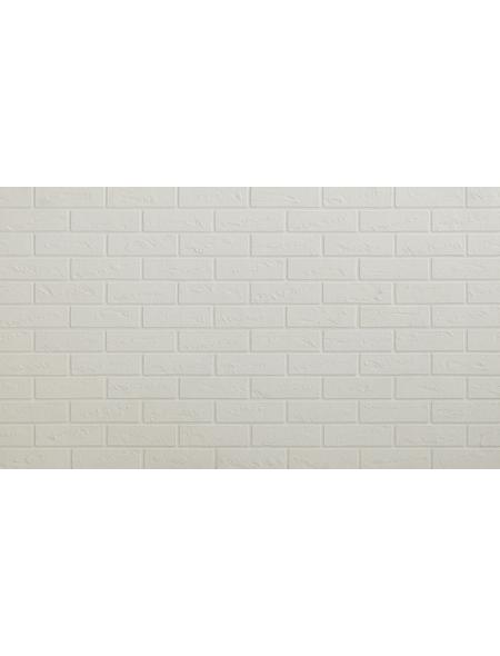 ELASTOLITH Wandverblender »Iceland«, 72 Stk., HxTxB: 5 x 21 x 0,3 cm, weiß