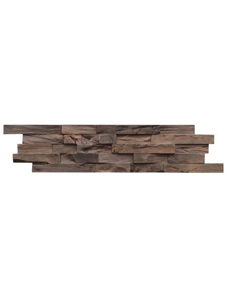 INDO Wandverblender »INDO BEACHWOOD«, braun, geölt, Holz, Stärke: 20 mm