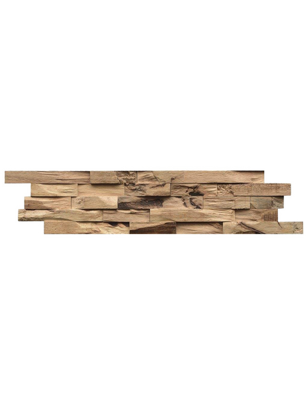 INDO Wandverblender »INDO BEACHWOOD«, braun, unbehandelt, Holz, Stärke: 20 mm