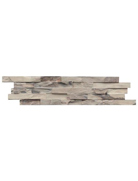 INDO Wandverblender »INDO BEACHWOOD«, grau, geölt, Holz, Stärke: 20 mm