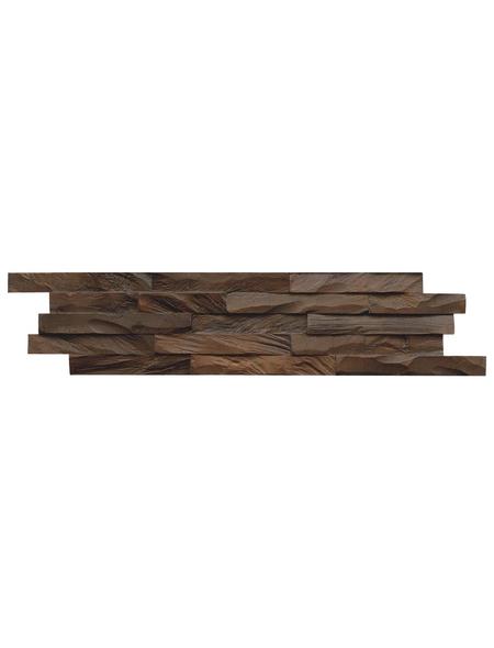 INDO Wandverblender »INDO DIAMONDWOOD«, braun, geölt, Holz, Stärke: 20 mm
