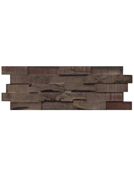 INDO Wandverblender »INDO SLIMWOOD«, grau, geölt, Holz, Stärke: 18 mm