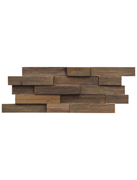 INDO Wandverblender »INDO TEAK«, braun, geölt, Holz, Stärke: 20 mm