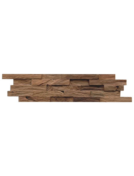 INDO Wandverblender »INDO TEAK CLASSIC«, braun, unbehandelt, Holz, Stärke: 20 mm