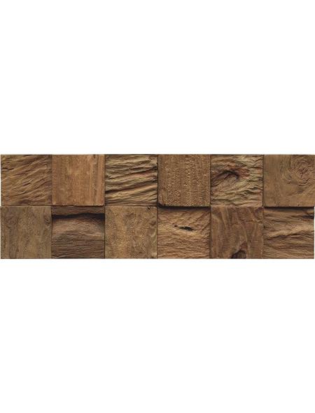INDO Wandverblender »INDO TEAK CLASSIC CUBE«, braun, unbehandelt, Holz, Stärke: 20 mm