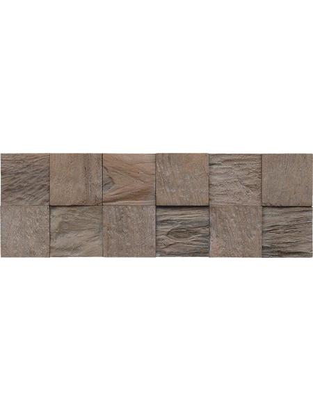 INDO Wandverblender »INDO TEAK CLASSIC CUBE«, grau, geölt, Holz, Stärke: 20 mm