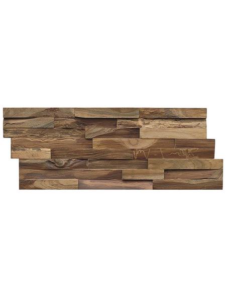 INDO Wandverblender »INDO Teak Elegance«, braun, geölt, Holz, Stärke: 20 mm
