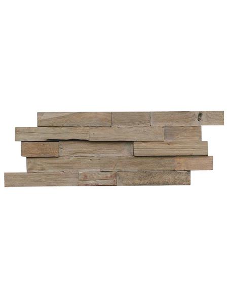INDO Wandverblender »INDO TEAK«, grau, geölt, Holz, Stärke: 20 mm