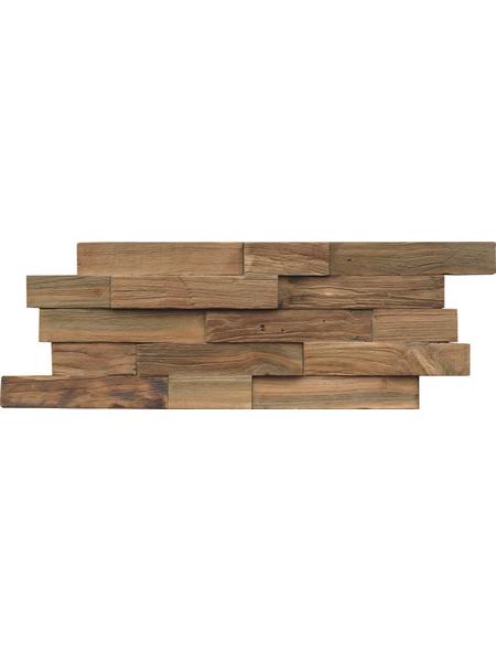 INDO Wandverblender »INDO TEAK«, teak, unbehandelt, Holz, Stärke: 20 mm