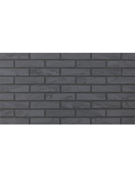 ELASTOLITH Wandverblender »Nero«, 72 Stk., HxTxB: 5 x 21 x 0,3 cm, grau