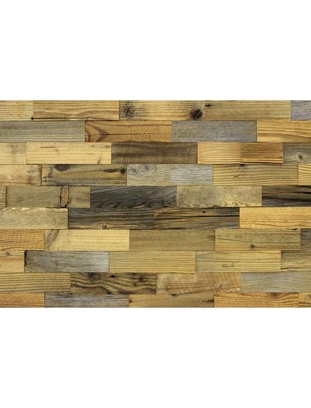 WODEWA Wandverkleidung, braun/grau, Holz, Stärke: 10 mm