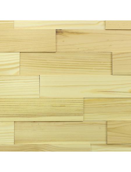 WODEWA Wandverkleidung, gelb, Holz, Stärke: 6 mm