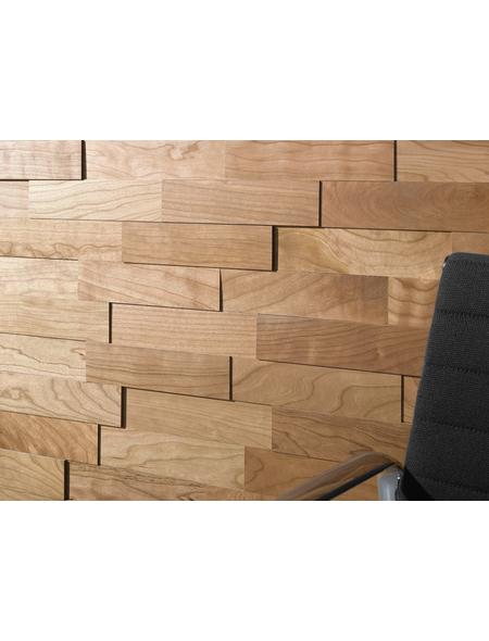 WODEWA Wandverkleidung, rotbraun, Holz, Stärke: 6 mm, mit Echtholzriemchen in 3D-Optik