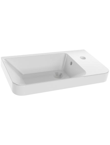 FACKELMANN Waschbecken »Milano«, Breite: 55,5 cm, eckig mit abgerundeten Kanten