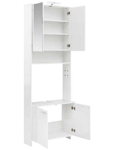 SCHILDMEYER Waschbecken-Umbauschrank »Luis«, B x T x H: 68,5 x 32 x 197,2 cm