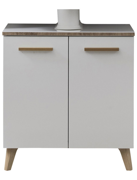 PELIPAL Waschbeckenunterschrank, B x H x T: 60 x 53 x 33 cm, weiß