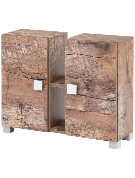 SCHILDMEYER Waschbeckenunterschrank »Edia«, BxHxT: 70,5 x 58,8 x 23,3 cm Anschlagrichtung: links/rechts