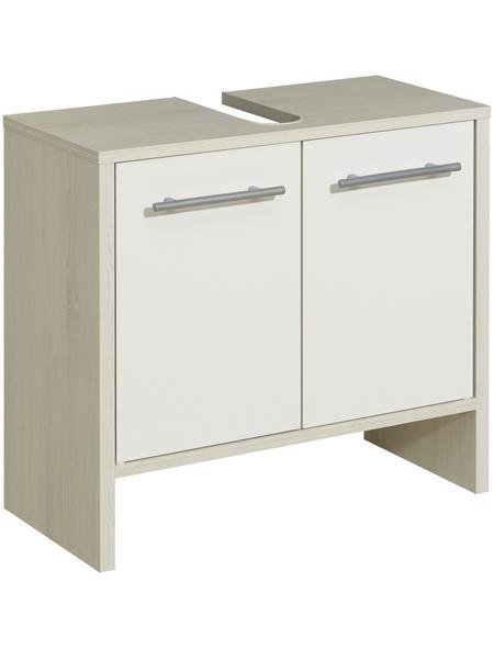 PELIPAL Waschbeckenunterschrank »Jan«, BxHxT: 62 x 54,3 x 28 cm Anschlagrichtung: links/rechts