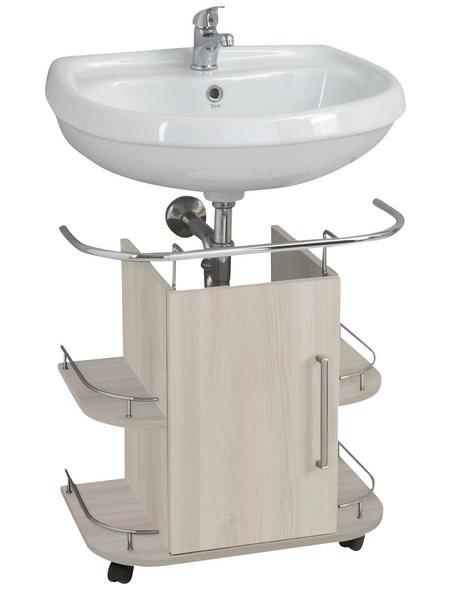 OPTIFIT Waschbeckenunterschrank »OPTIbasic 4030«, B x H x T: 60 x 63,3 x 39,5 cm Anschlagrichtung: links/rechts