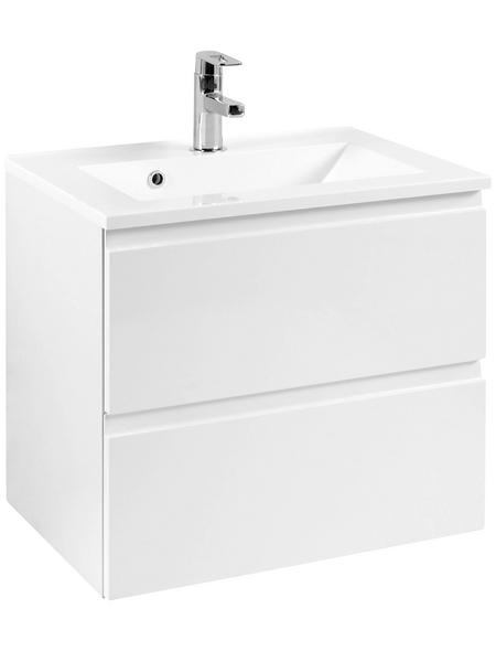 HELD MÖBEL Waschplatz »Cardiff«, B x T x H: 60  x 47  x 56  cm, weiß, 60-teilig