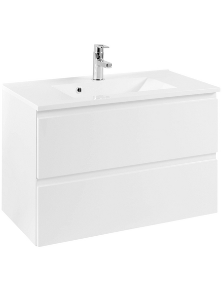 HELD MÖBEL Waschplatz »Cardiff«, B x T x H: 80  x 47  x 56  cm, weiß, 80-teilig