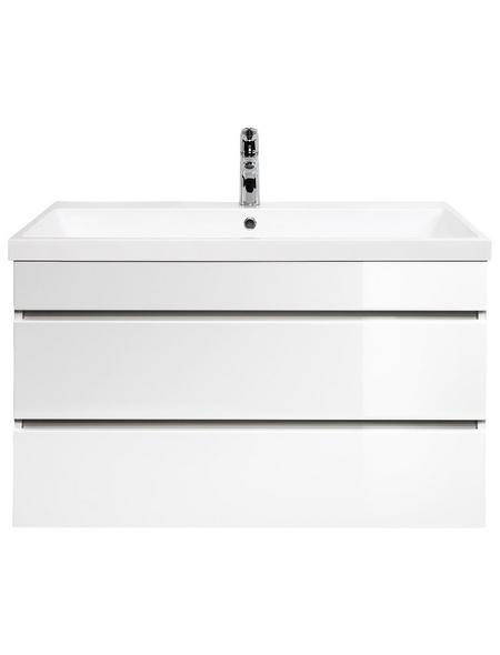 POSSEIK Waschplatz »FELINI«, B x T x H: 91  x 49  x 60,4  cm, weiß, 90-teilig