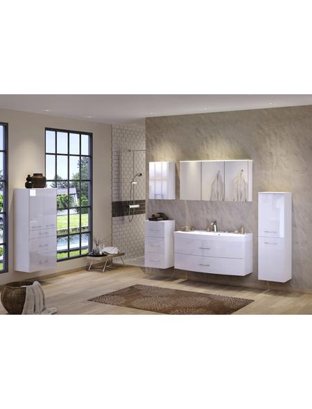 HELD MÖBEL Waschplatz »Florida«, Breite: 120  cm, weiß, 120-teilig