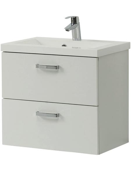 HELD MÖBEL Waschplatz »Montreal«, B x T x H: 60  x 39  x 54  cm, weiß, 60-teilig